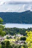 Windermere sjö på engelska nationalpark för område för sjö, Cumbria Arkivbilder