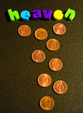 Windfall: pennies from heaven ? Stock Photo
