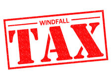 WINDFALL TAX. Red Rubber Stamp over a white background Stock Images