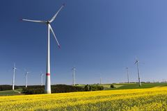 Windfarm Foto de Stock Royalty Free