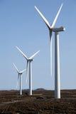 Windfarm. Wind turbines on peat moors, Isle of Lewis, Outer Hebrides Stock Photography