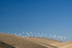 Windfarm in actie stock foto's