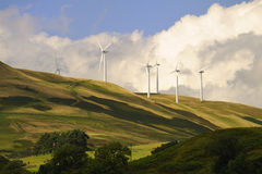 Windfarm du Devon de gorge, Ecosse Photo stock