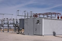 Windfarm Electric Substation royalty free stock images