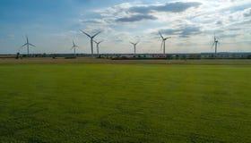Windfarm em Bluesky imagem de stock
