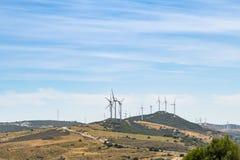Windfarm España del Los Llanos de las turbinas de viento fotografía de archivo libre de regalías