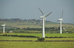 windfarm kraju z gospodarstw rolnych Zdjęcia Stock