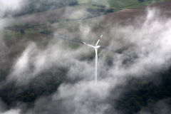 Windfarm landscape view from sky Royalty Free Stock Photography