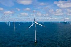 Windfarm in mare aperto Immagine Stock Libera da Diritti