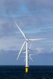 Windfarm in mare aperto Fotografia Stock Libera da Diritti