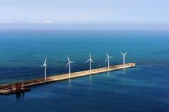 Windfarm na morzu Obrazy Stock