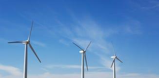 Windfarm och solsken Royaltyfri Bild