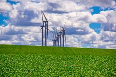 Windfarm in Oostelijk Oregon stock foto
