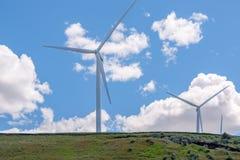 Windfarm in Oostelijk Oregon royalty-vrije stock afbeelding