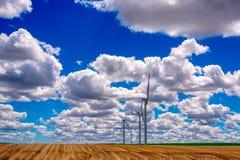 Windfarm in Oostelijk Oregon royalty-vrije stock foto's