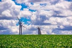 Windfarm in Oostelijk Oregon royalty-vrije stock afbeeldingen
