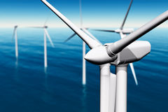 Windfarm in the sea Royalty Free Stock Photography