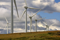 Windfarm structures, Scotland Royalty Free Stock Images