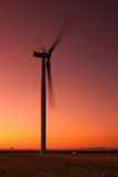 Windfarm at sunset Royalty Free Stock Images
