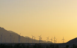 Windfarm at sunset Royalty Free Stock Photography