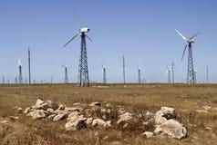 Windgenerator av den elektriska strömmen arkivbild