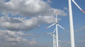 Windgenerator park stock video