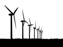 Windgeneratoren Stockfoto