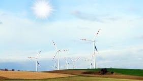 Windgeneratorer, ekologi Royaltyfri Fotografi