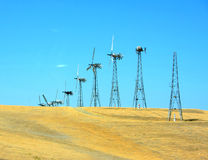 Windgenerators Stock Foto's