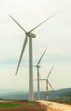 Windgenerators op Onderstel Gilboa Royalty-vrije Stock Foto