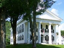 Windham County, Vermont. Windham County Courthouse Memorial Day weekend.  Vermont Stock Photography