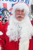 WINDHAM DECEMBER 19 - Skiing and Riding Santas for charity at Windham Mountain. Stock Photos