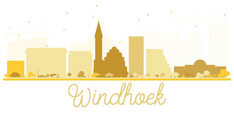 Windhoek City skyline golden silhouette. Royalty Free Stock Image