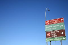 Windhoek im Stadtzentrum gelegen Lizenzfreie Stockbilder