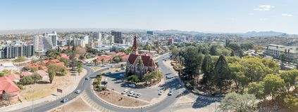 Panorama of the Christuskirche and central business district of Royalty Free Stock Images