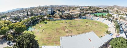 Aerial panorama of the easthern parts of Windhoek Stock Photos