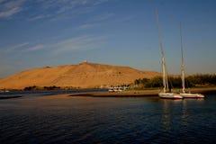 Windiger Hügel und Nil Stockbilder
