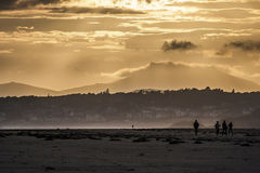 Windiger Sonnenuntergang Lizenzfreie Stockfotografie