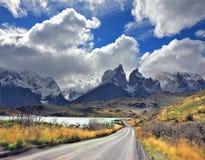 Windiger Tag im Patagonia Stockbilder