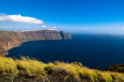 Windiges calderaview auf dem Meer Stockfotografie