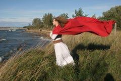 Windiges Mädchen Stockfotos