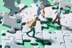 Windiges Puzzlespiel Stockfotos