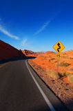 Winding. Road in red rock canyon Royalty Free Stock Images