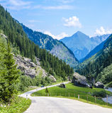 Winding alpine road Insbruck, Austria Royalty Free Stock Photo