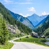 Winding alpine road Insbruck, Austria Royalty Free Stock Photo