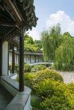 Winding Ambulatory and plants landscape Stock Photo