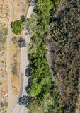 Road through Forested California Valley Stock Photography