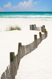 Winding Beach Fence Royalty Free Stock Photos