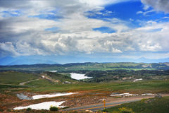 Winding Beartooth Pass Royalty Free Stock Photo