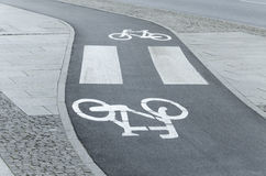 Winding Bicycle lane Royalty Free Stock Images